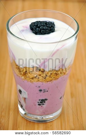 Yoghurt with Blackberries