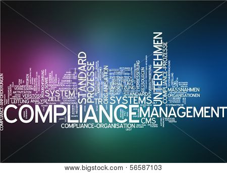 Word cloud - compliance