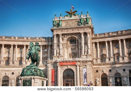 Hofburg in Vienna, Sculpture of Prince Eugen, Austria