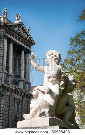 Landmark of Vienna, Austria. Neue Burg in Vienna, Austria