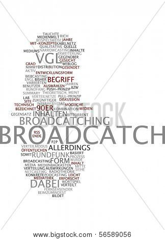 Word cloud - broadcatch