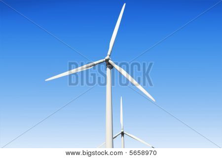 Turbines In A Windfarm