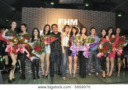 Group Photo Of Celebrities On Stage During Fhm Party