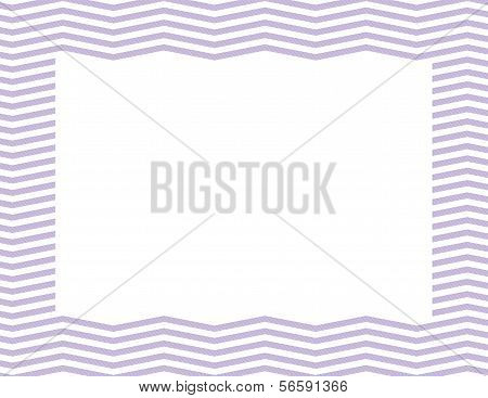 Purple Chevron Frame