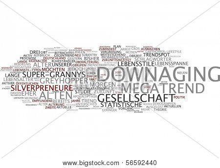 Word cloud - downaging