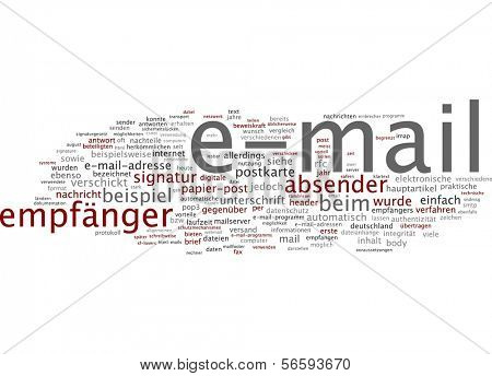 Word cloud - e-mail