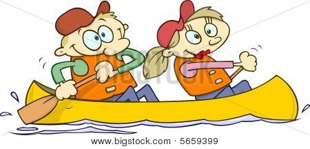 Canoeing couple