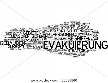 Word cloud - evacuation