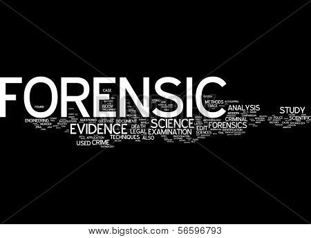 Word cloud - forensic