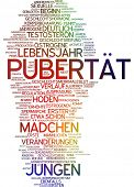 stock photo of puberty  - Word cloud  - JPG