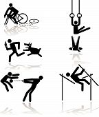 image of pole-vault  - games see through an humor point of view - JPG