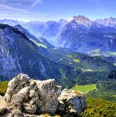 Mountain Range View at Berchtesgadener Land in Bavaria, Germany