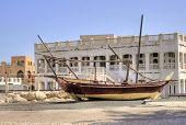 Wreck of an old arab vessel located in the old district of Doha