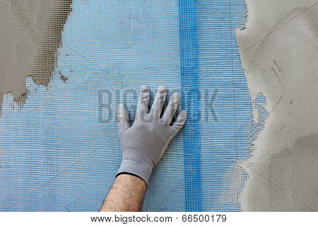 Polystyrene Insulation Of Wall