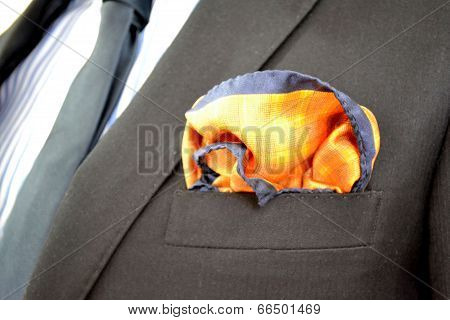 Formal attire for man with a hanky