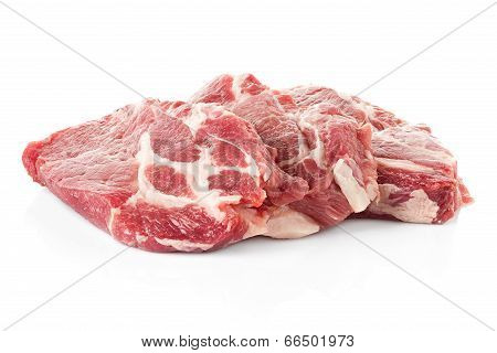 Pieces Of Crude Meat