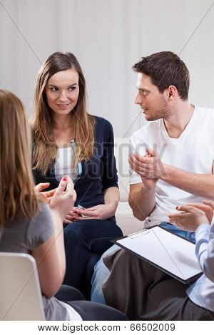 Group Of People During Psychotherapy