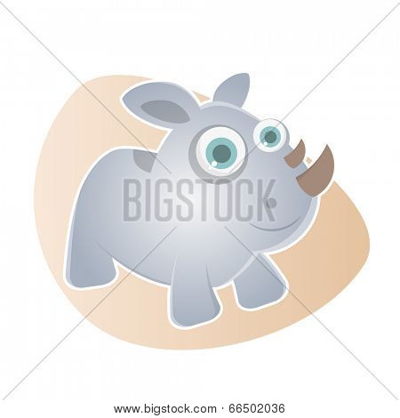 funny cartoon rhino