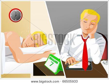 Businessman Sleeping.eps