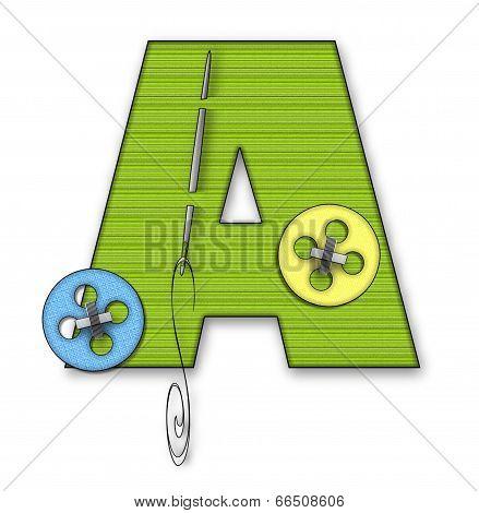 Alphabet Button Up A