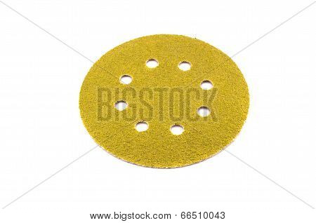 Abrasive Disc For Grinding Isolated On White