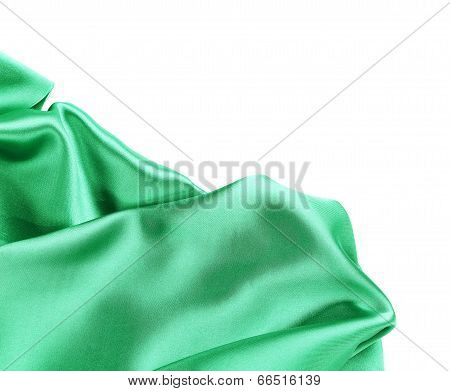Folds of emerald satin.