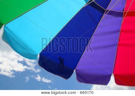 Beach Umbrella And Sky