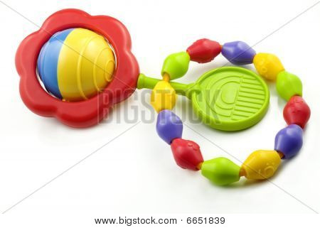 Colorful Baby Rattle And Teething Ring