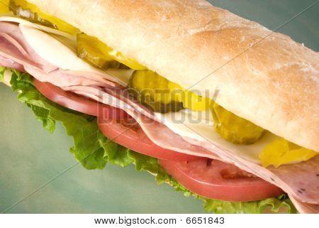 Italian Submarine Sandwich Close-up