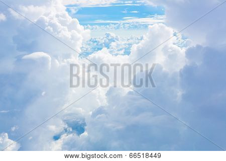 Cloud in blue sky