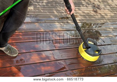 Washing Wooden Terrace