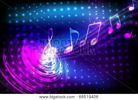 Blue abstract music background