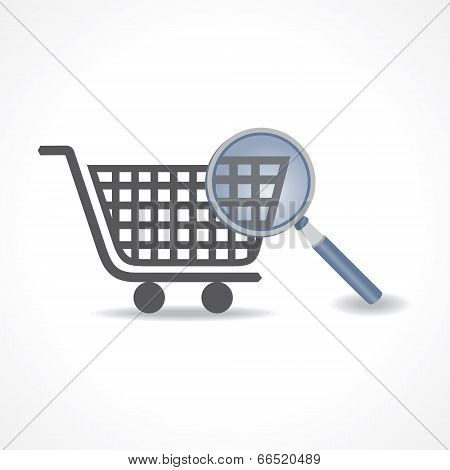 Searching for shopping concept stock vector