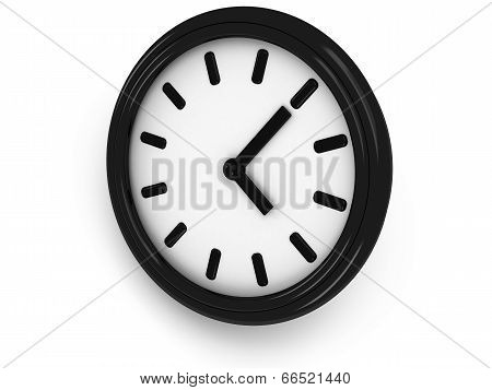 3D Round Clock Shows Three O'clock