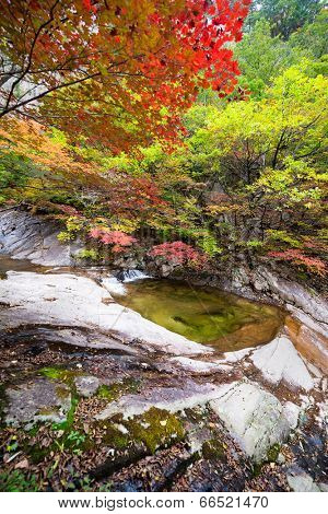 Fall waterfall spring at Seoraksan National Park, South korea
