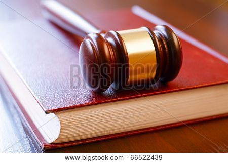 Brown Gavel And Law Book