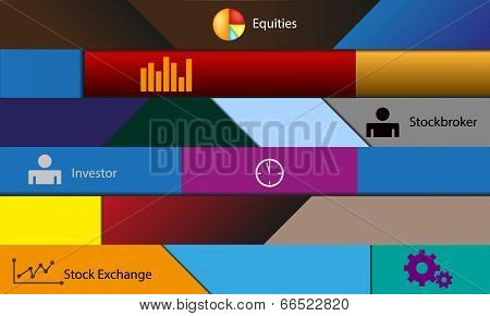 Illustration theme stock exchange