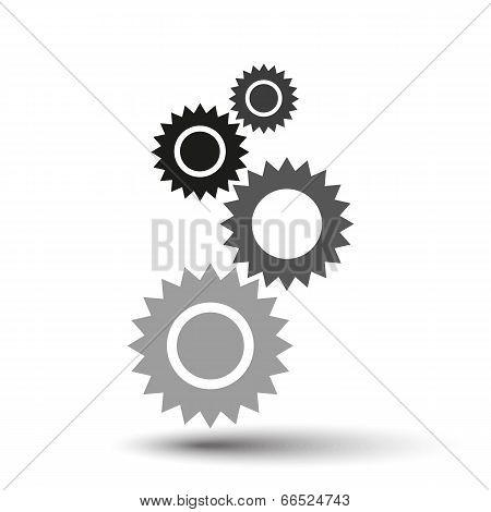 vector gears background