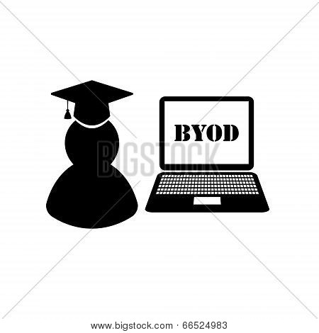 BYOD black and white icons