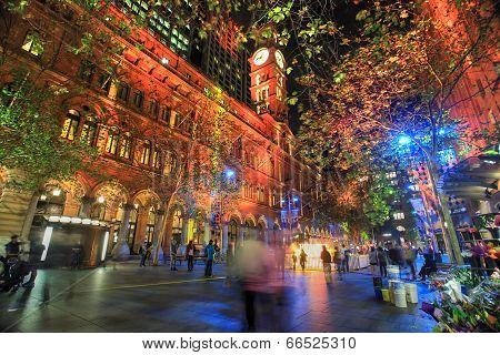 Martin Place, Sydney During Vivid Festival