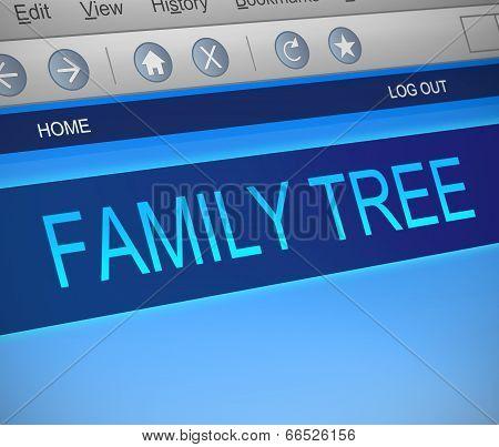 Family Tree Concept.