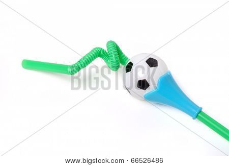 Drinking straw on a white background