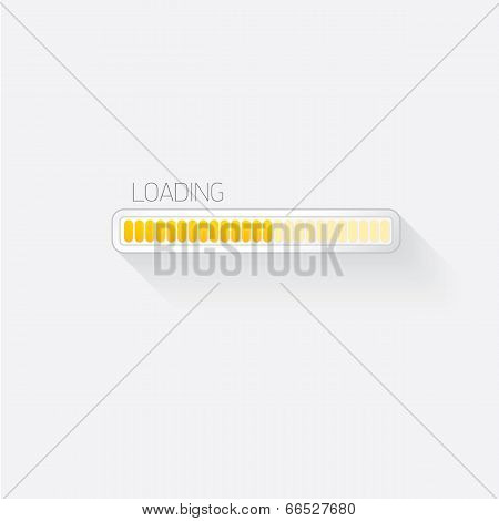 white modern trendy design progress loading bar