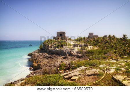 Maya ruins in Tulum, Mexico