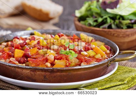 Vegetable and beans stew