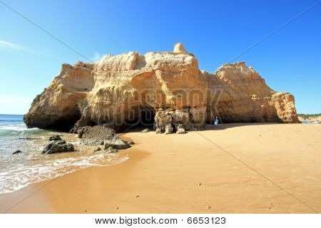 Natural rocks at the southcoast in de Algarve Portugal