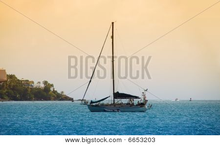 Sailboat In The Caribbean