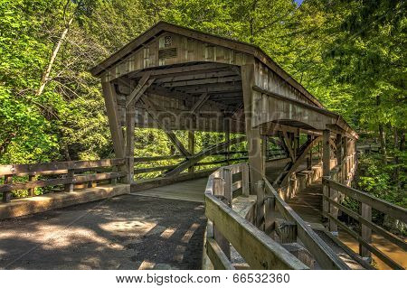 Lanterman Falls Covered Bridge