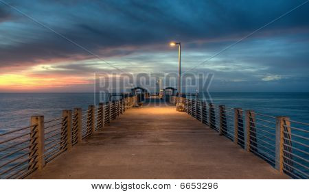 Twilight at the pier