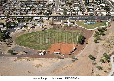 Neighborhood Park With Ball field